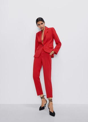 Zara! красные штаны, брюки, размер xs-s