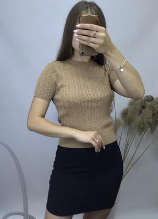 Zara вязаная футболка из новый коллекций  жилет