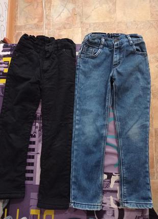 Теплі штани, джинси для хлопчиків 6-7р.