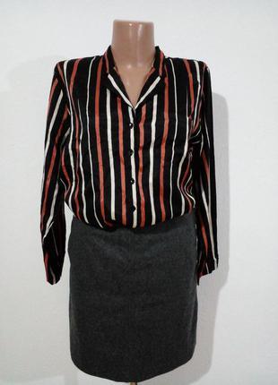 Блуза рубашка в пижамном стиле