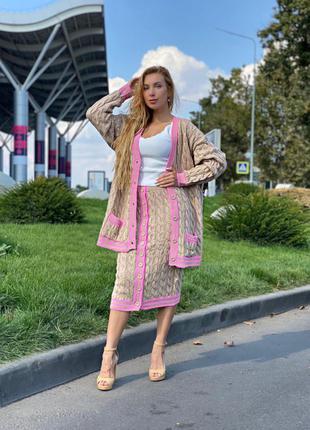 Шикарный костюм турция юбка и кофта на пуговицах