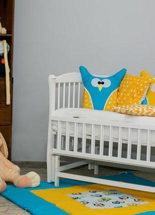 """Дитяче ліжечко """"еліт"""" різьба сніжно біле з відк.боковинкою"""