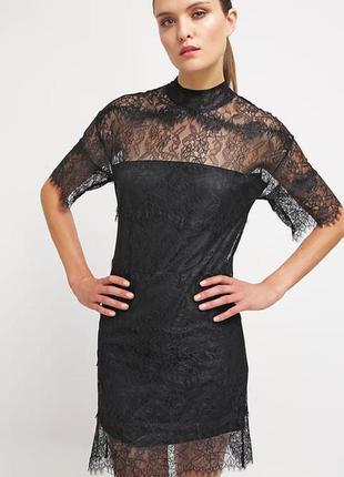 Классное вечерние кружевное платье moss copenhagen