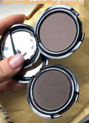 Новые компактные матовые тени для бровей зеркалом topface