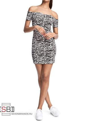 Платье зебра h&m