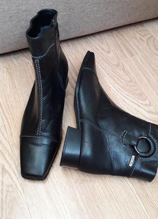 Натур.кожа🔥gabor  ботильоны р.39(25.5см) ботинки  ботильйони черевики  напів чобітки