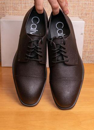 Оригинал! мужские кожаные туфли оксфорд calvin klein conner us8/eur41/25.5