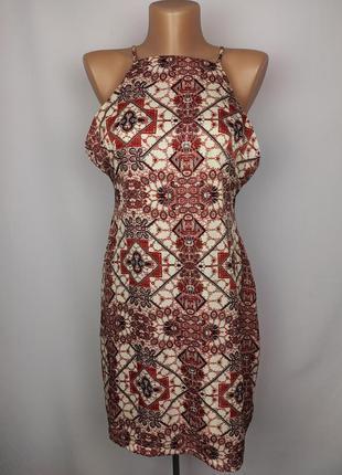 Платье новое красивое в принт uk 12/40/m