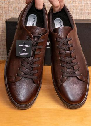 Оригинал! мужские кожаные кеды kenneth cole new york colvin sneaker h us12/eur46