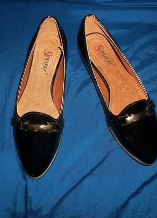 Туфли на низком ходу кожаная стелька seastar