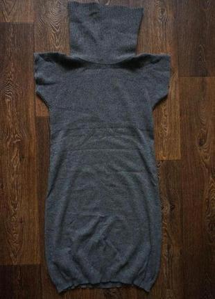 Стильное теплое платье с горлом united colors of benetton шерсть и ангора