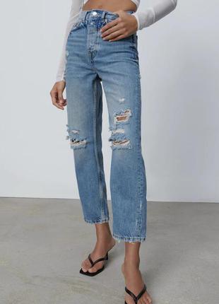 Рваные джинсы zara original spain