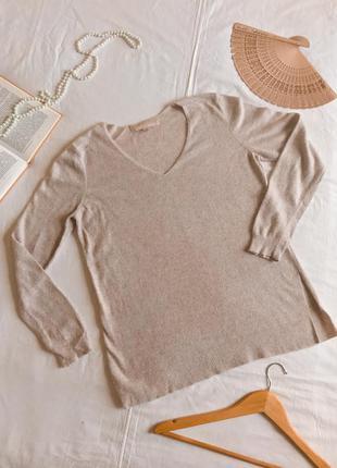 Английский пуловер цвета айвори из натуральной ангоры (размер 40-42)