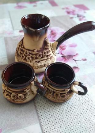 Турка и чашки для кофе