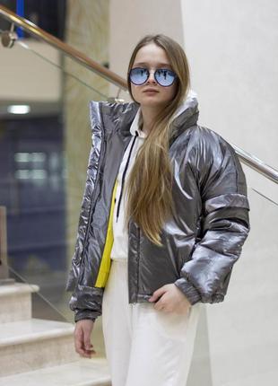 Стильная куртка осень-весна на силиконе 3 цвета