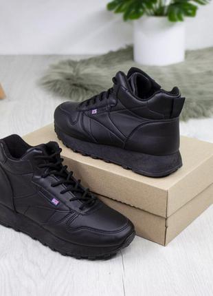 Жіночі черевички. чорні, екошкіра