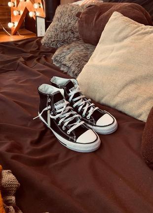 Кеди converse высокие чёрные, кеды чорні, кроссовки