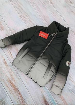 🍁супер деми куртка для девочки