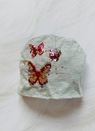H&m стильная шапка на девочку  3-4 года