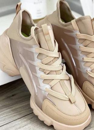 Женские кроссовки в стиле диор