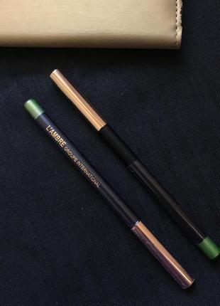 Контурний олівчик для очей перламутрового зеленого кольору карандаш для глаз хит сезона зелёный цвет декоративна косметика