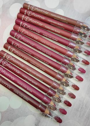 Набор нюдовых карандашей для губ flormar matte color lipstick (12 шт)
