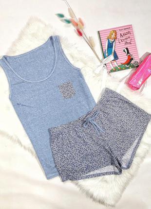 Коттоновая пижама от george, размер s-m, состояние идеальное