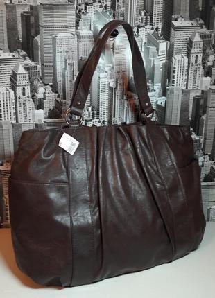 Шикарная большая сумка шоппер от dsw. / designer shoe warehouse.