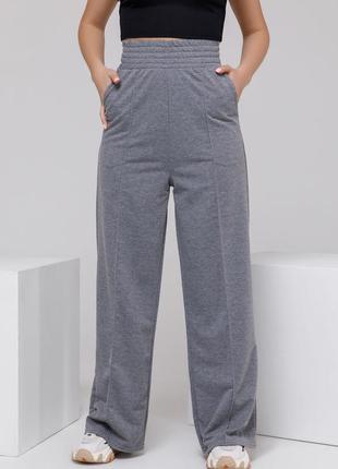 Актуальные широкие женские спортивные штаны из трикотажа трикотажные женские спортивные штаны с высокой посадкой прямые женские спортивные штаны