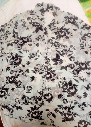 Нежнейшая шифоновая блуза- туника размер батал