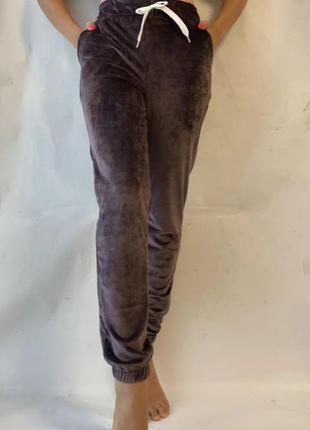 Женские стильные штаны, велюр. широкий пояс-резинка 42-48 р.