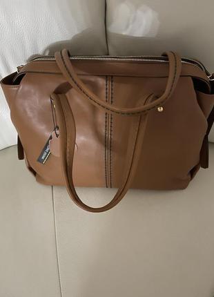 Кожаная итальянская сумка, plinio visona