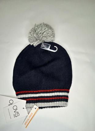 ☑️стильна шапочка італійського бренду оvs☑️