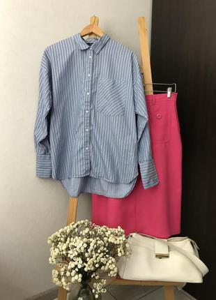 Базова котонова рубашка в полоску