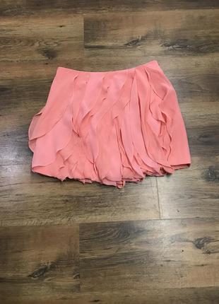 Шикарная шелковая юбка воланы