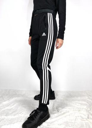 Зауженные спортивные штаны спортивки на высокой посадке adidas оригинал
