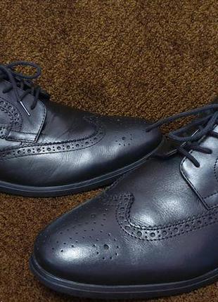 Кожаные мужские туфли оксфорды от бренда gallus! италия!
