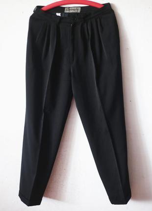 Винтажные шерстяные брюки dynasty 100% шерсть высокая посадка