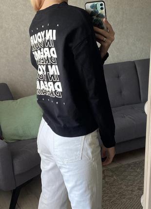 Тонкий свитшот с надписью на спине h&m