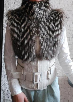 Куртка жилетка с натуральным мехом