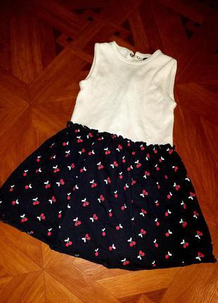 Сукня -бодік 💖 для дівчинки із вишеньками 🍒  🌟 kiabi