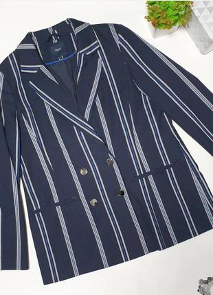 🔥трендовый пиджак в полоску модного  прямого фасона. котоновая ткань, пуговицы зеркальные. 🔥