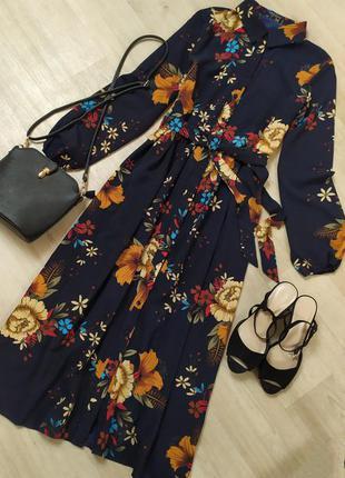 Шикарное платье в цветочный принт jeuvre франция