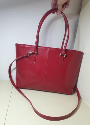 Сумка кожанная varese оригинал италия сумка тоут натуральная кожа