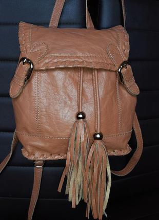 Кожаныя сумка -рюкзак натуральная кожа  urbancode
