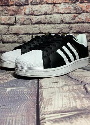 Мужские кроссовки adidas superstar (черные)