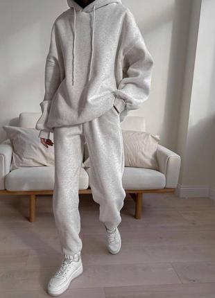 Костбм худи + штаны светло-серый