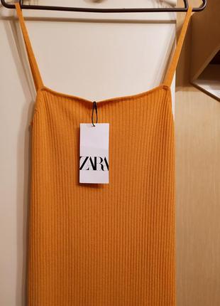 Сарафан, платье рубчик zara.