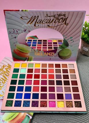 Палитра теней для век sweet shop macaroon