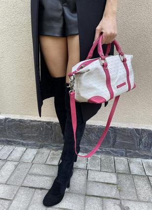 Яркая сумочка,саквояж,люкс бренд,coccinelle,